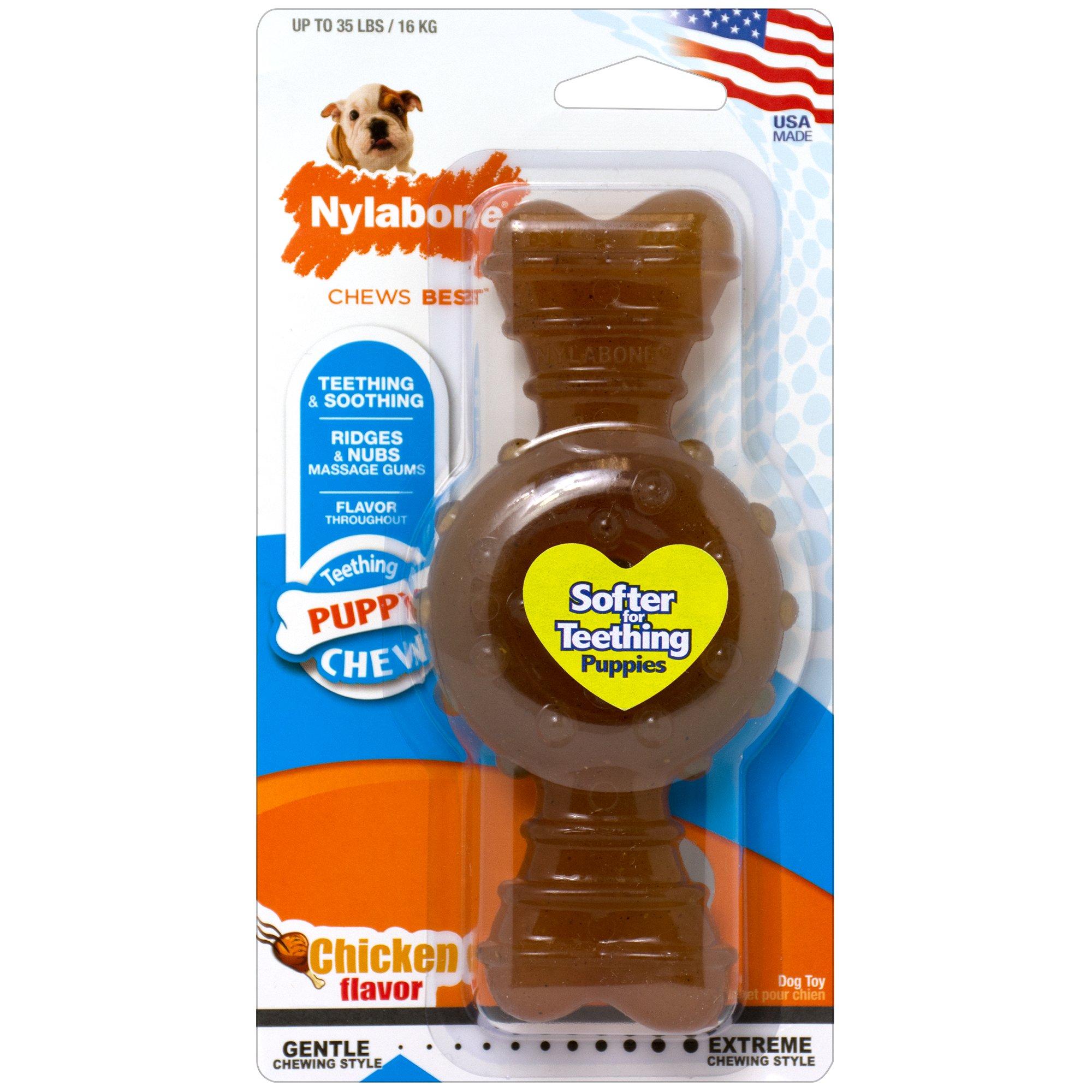 Nylabone Puppy Chew Chicken Flavored Dog Chew