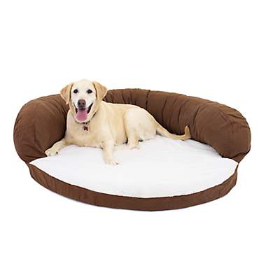 Carolina Pet Company Chocolate Brown Orthopedic Bolster Personalized Dog Bed