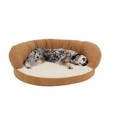 Carolina Pet Company Caramel Colored Orthopedic Bolster Personalized Dog Bed