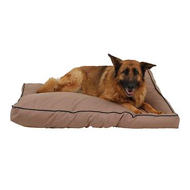 Carolina Pet Company Indoor Outdoor Jamison Tan Faux Gusset Dog Bed