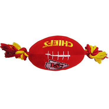 Pets First Kansas City Chiefs Football Toy For Dogs
