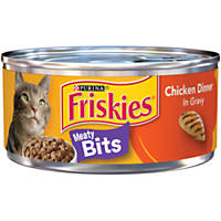 Friskies Meaty Bits Chicken Dinner in Gravy Cat Food