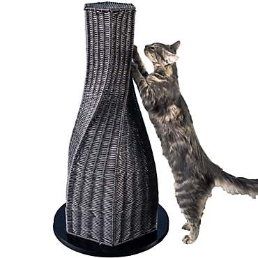 The Refined Feline Calypso Cat Scratcher in Espresso