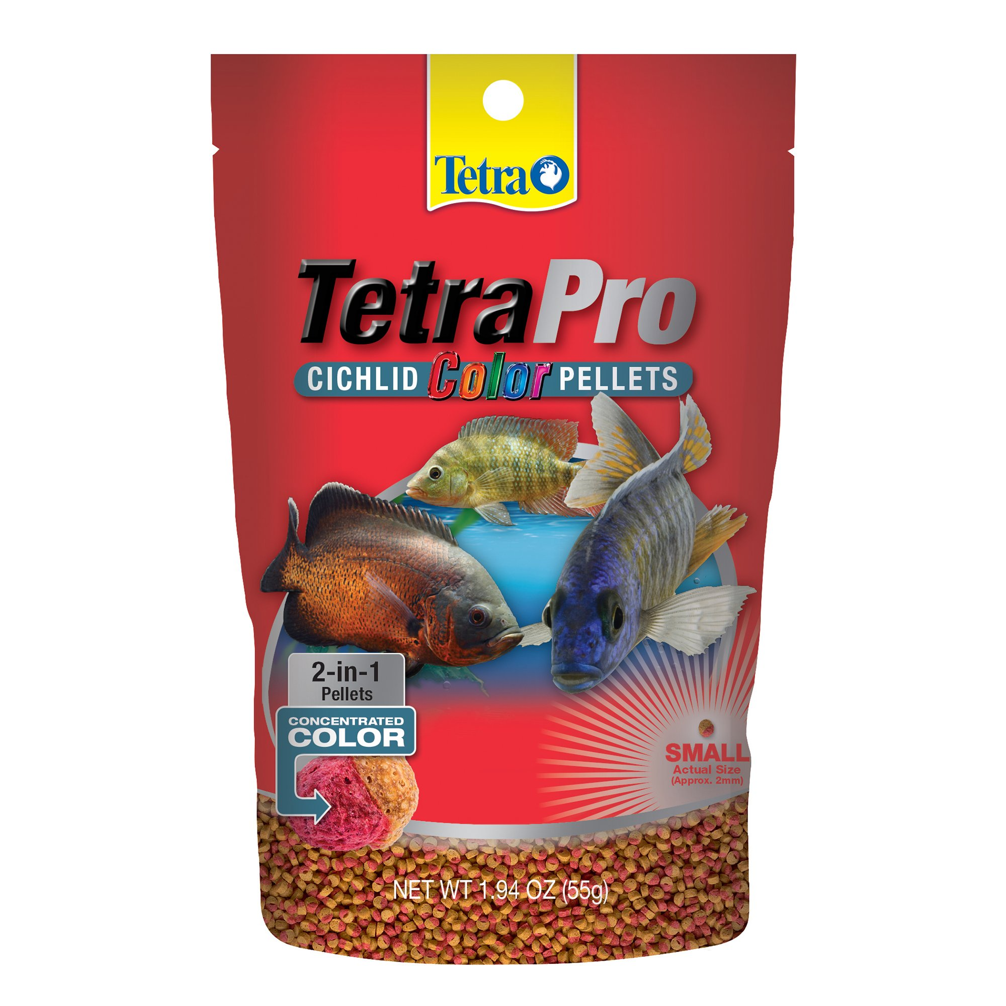TetraColor Cichlid Food Pellets | Petco