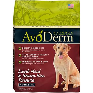 AvoDerm Natural  Lamb & Rice Dry Dog Food
