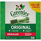 Greenies Original Regular Natural Dental Dog Treats, 36 oz., Count of 36
