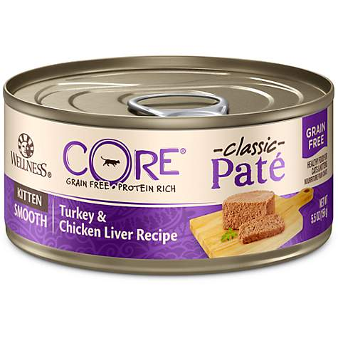 Wellness Core Natural Grain Free Chicken Turkey Pate Wet Kitten
