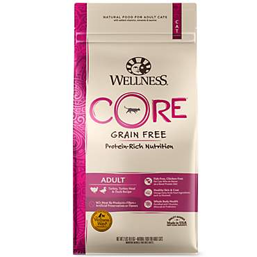 Wellness CORE Natural Grain Free Turkey & Turkey Meal & Duck Dry Cat Food