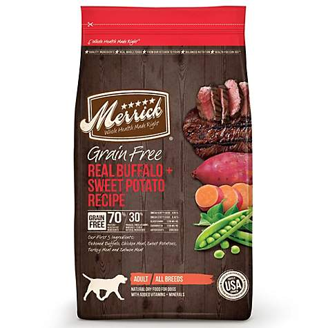 Merrick Grain Free Real Buffalo + Sweet Potato Dry Dog Food