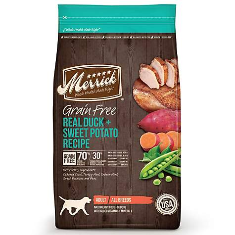 Merrick Grain Free Real Duck + Sweet Potato Dry Dog Food