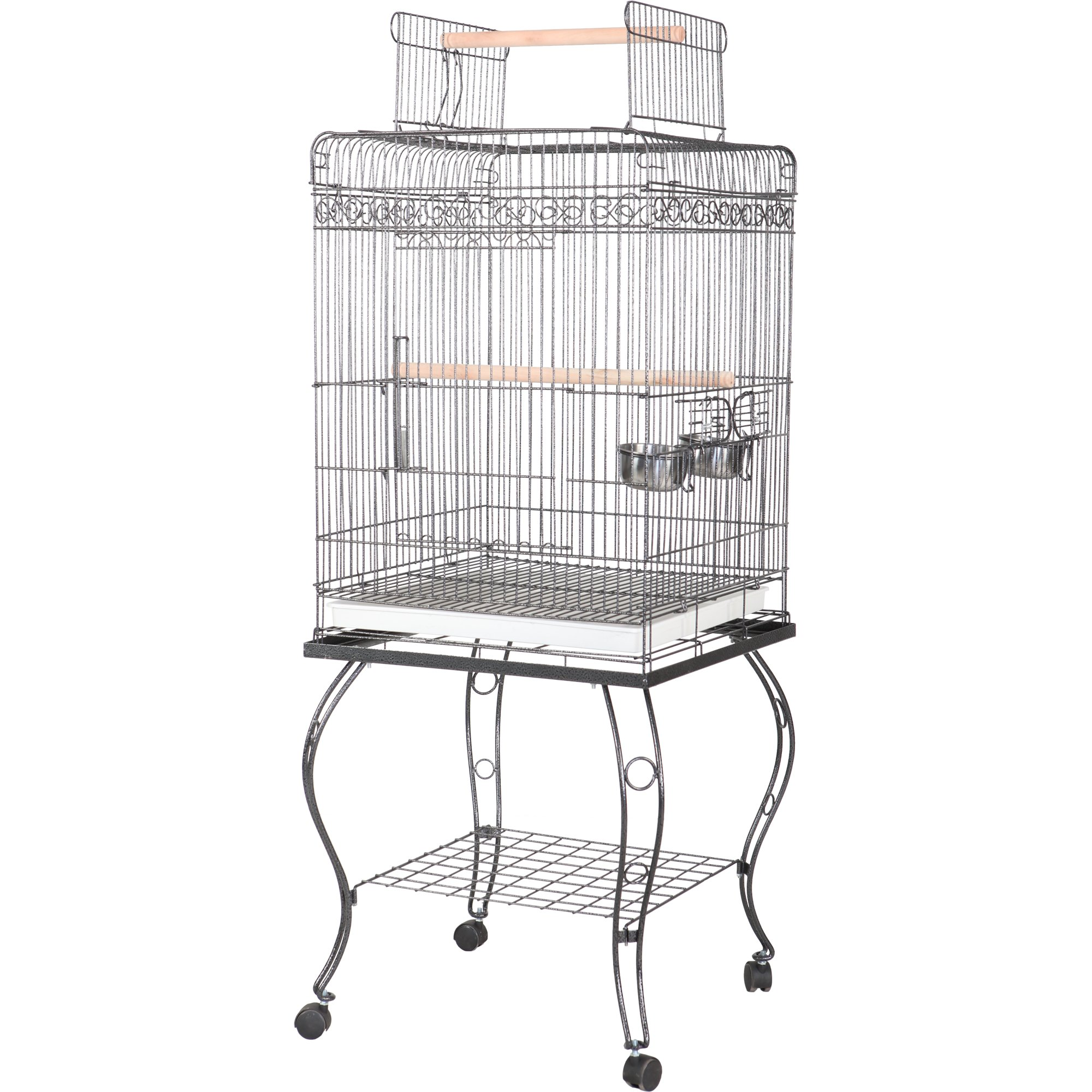 "Image of ""A&E Cage Company 20"""" X 20"""" Play Top Bird Cage, Black, 20 IN"""