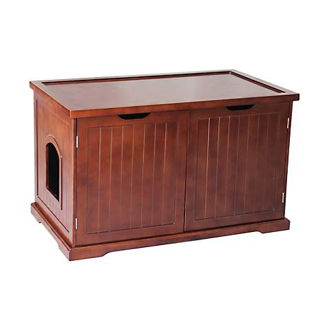 Merry Products Cat Washroom Bench Walnut Litter Box Cover   Petco
