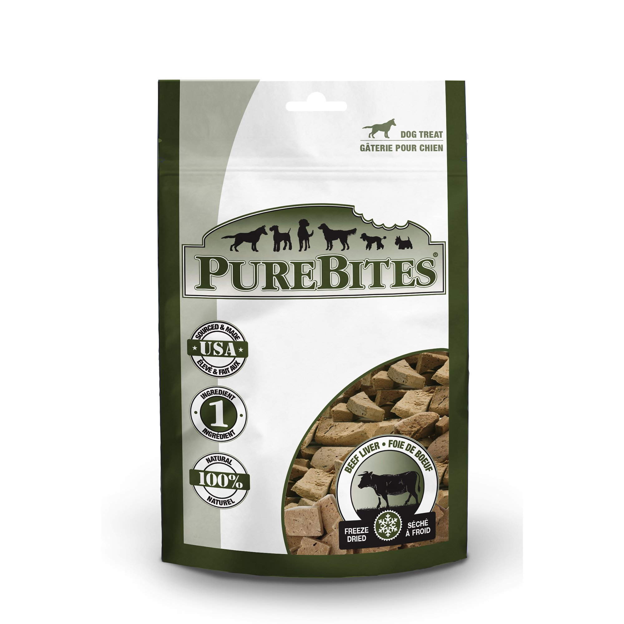 Image of Pure Bites Beef Liver Dog Treats, 2 oz.