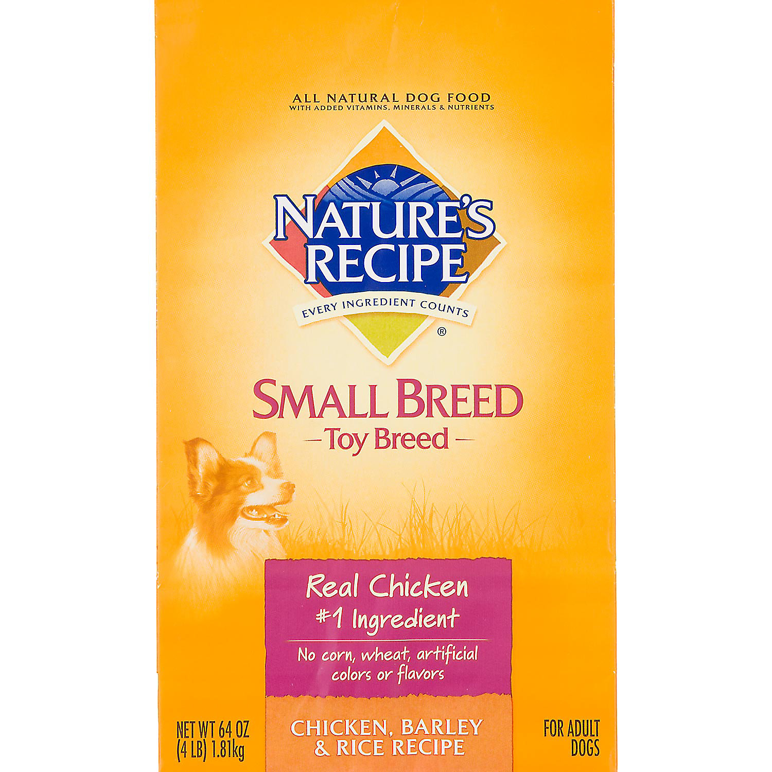 Natures Recipe Dog Food For Toy Dogs 4 Lbs.