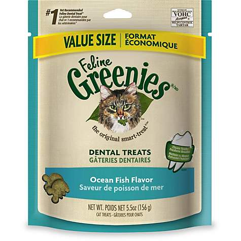 Greenies Feline Dental Ocean Fish Flavored Cat Treats