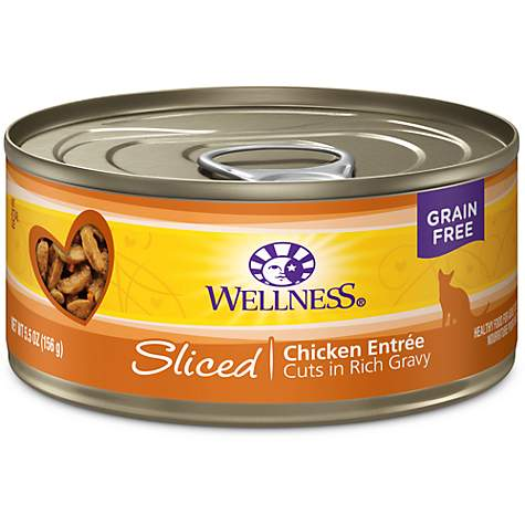 Wellness Natural Grain Free Sliced Chicken Entree Wet Cat Food