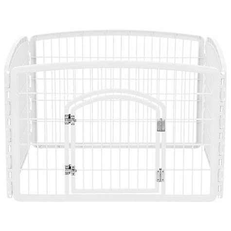 Miraculous Iris White Four Panel Pet Containment And Exercise Pen With Door 35 3 L X 35 3 W X 23 6 H Andrewgaddart Wooden Chair Designs For Living Room Andrewgaddartcom