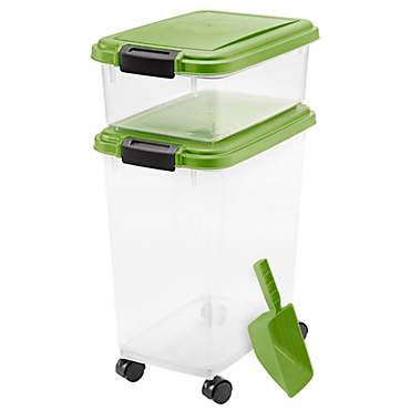 Iris Peridot and Clear Airtight Three Piece Food Storage Combo