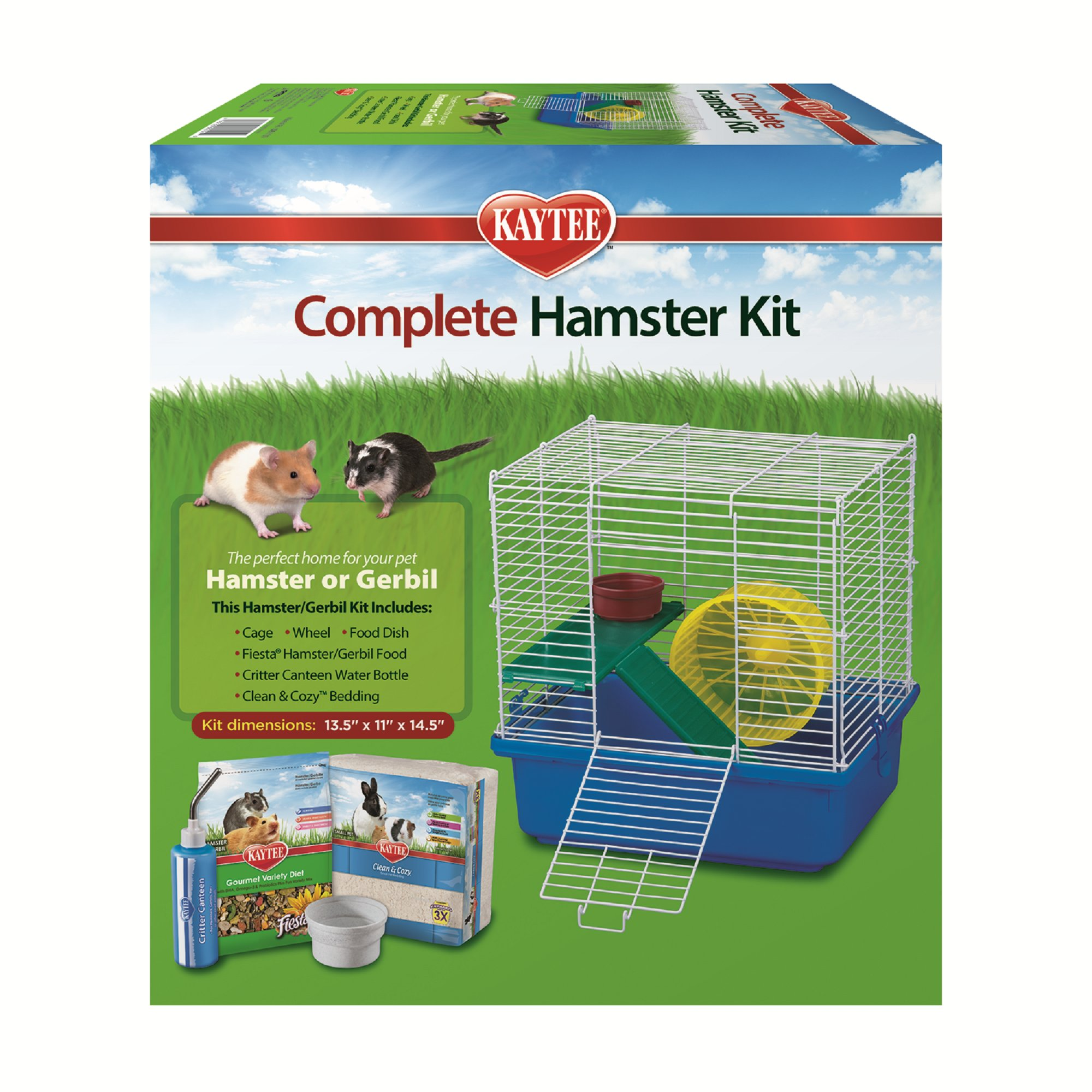"Image of ""Kaytee Complete Two Story Hamster Kit, 5.75"""" L X 15.6"""" W X 16.5"""" H, Small, Multi-Color"""