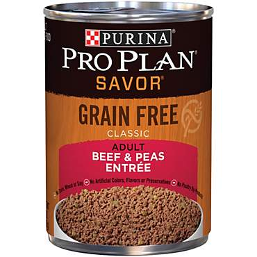 Pro Plan Grain Free Pate SAVOR Classic Beef & Peas Entree Wet Dog Food