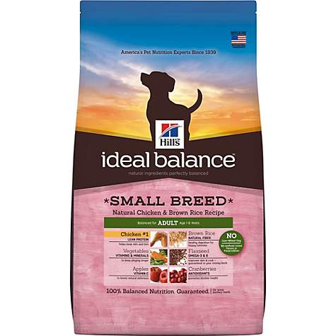 Hill's Ideal Balance Adult Small Breed Natural Chicken & Brown Rice Recipe Dry Dog Food