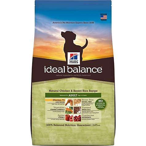 Hills Ideal Balance Adult Natural Chicken Brown Rice Recipe Dry