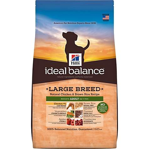 Hill's Ideal Balance Adult Large Breed Natural Chicken & Brown Rice Recipe Dry Dog Food