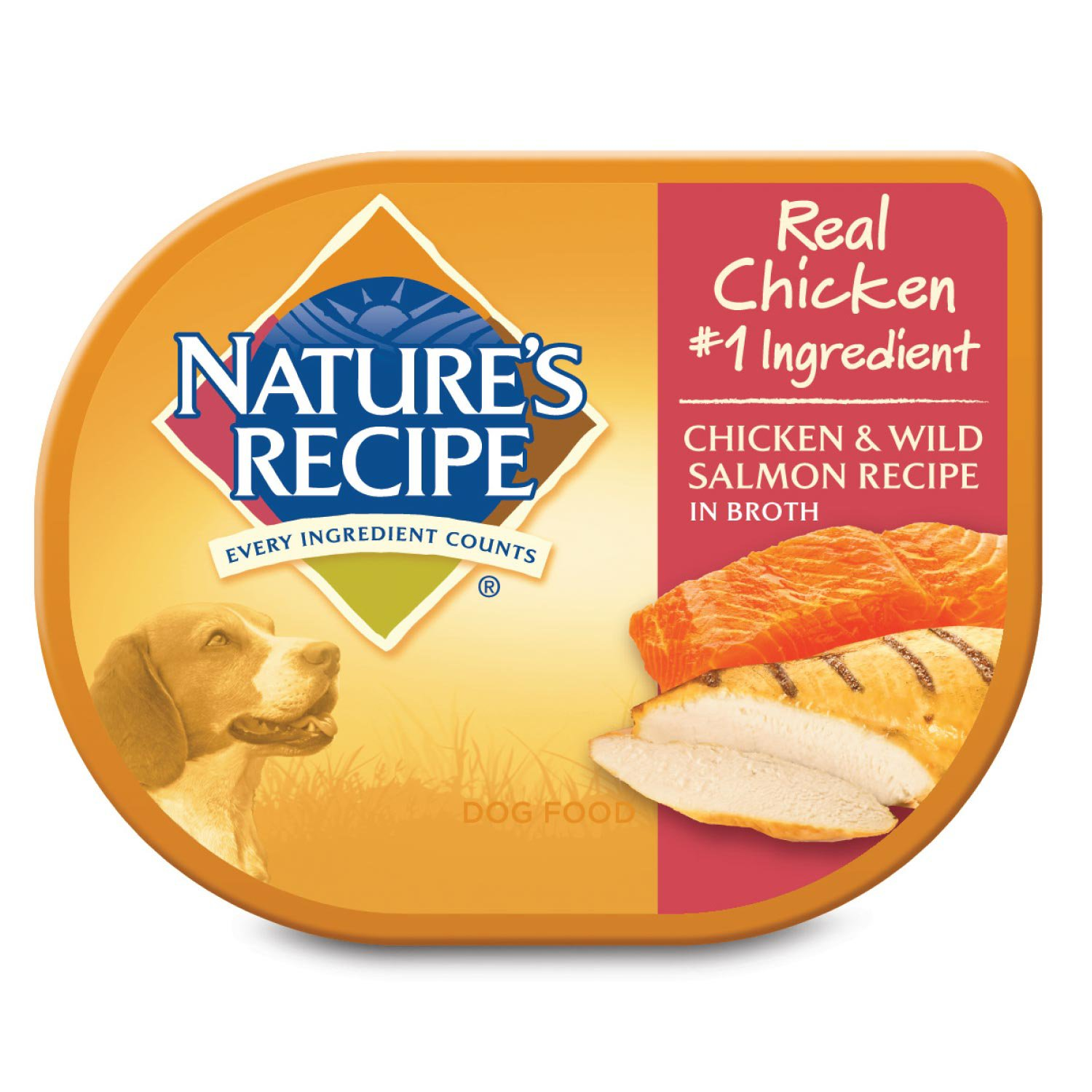 Natures recipe adult dog food trays chicken salmon petco forumfinder Image collections