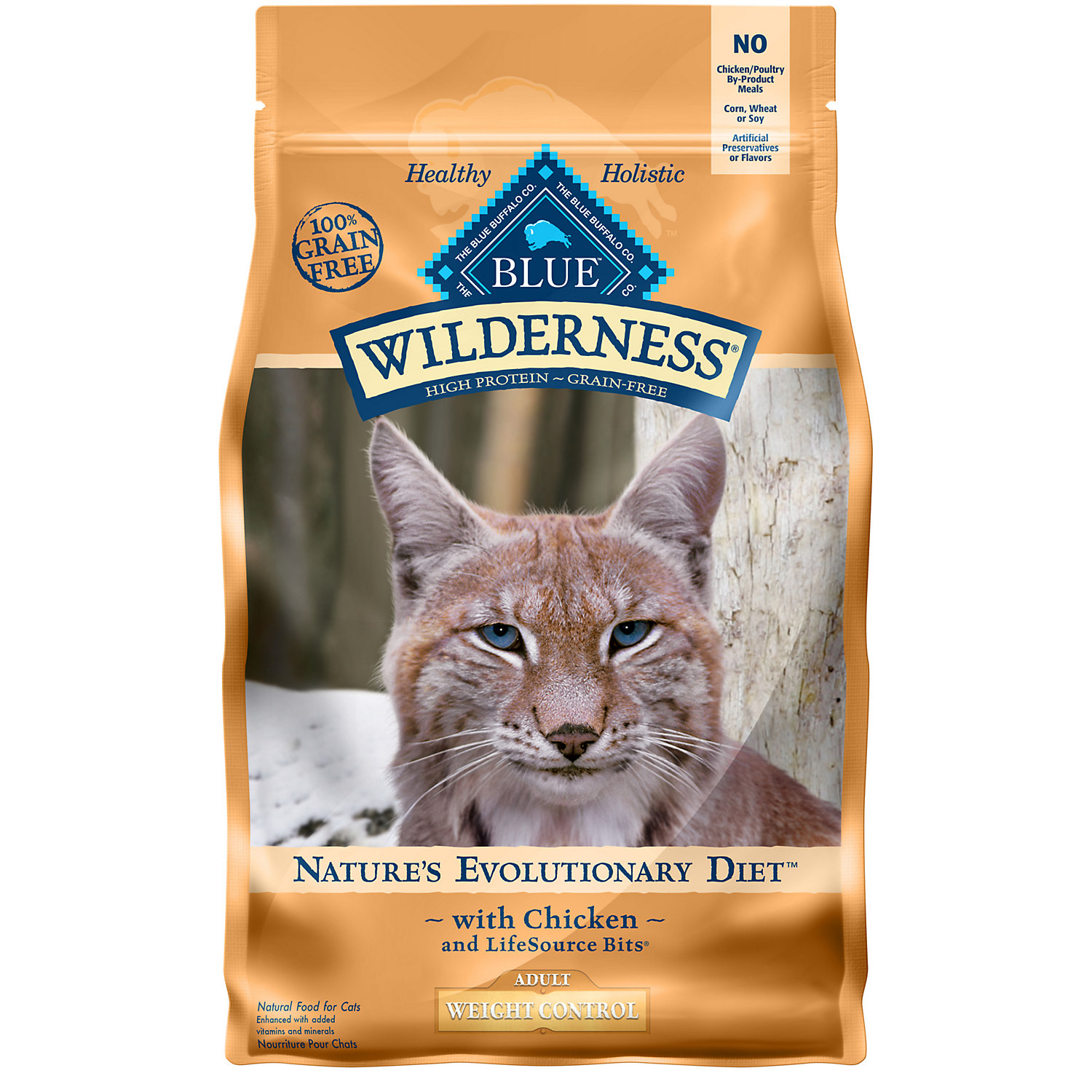 Blue Buffalo Wilderness Weight Control Chicken Adult Dry Cat Food 5 Lbs.