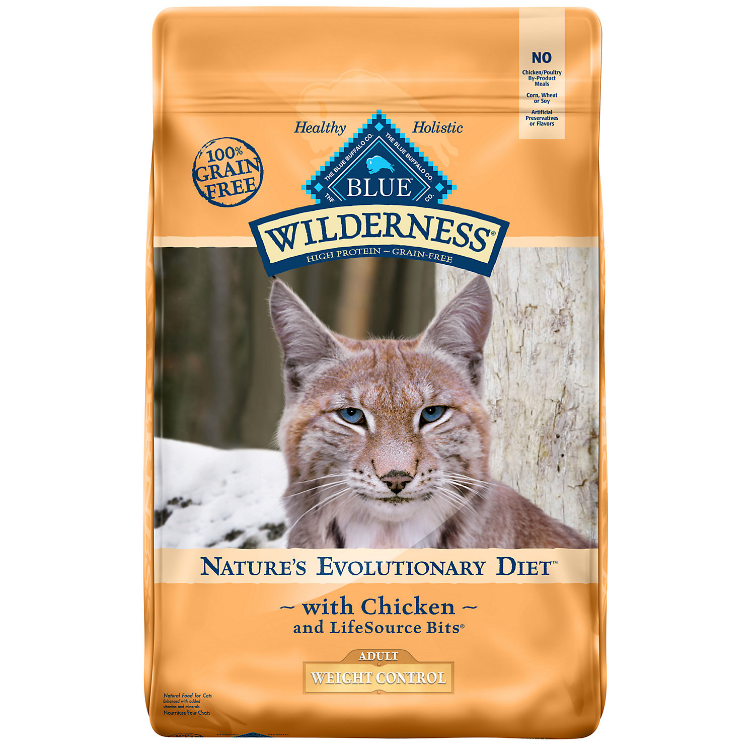 Blue Buffalo Wilderness Weight Control Chicken Adult Dry Cat Food 11 Lbs.