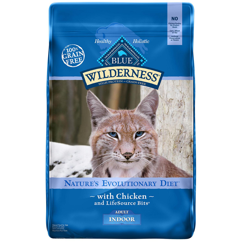 Blue Buffalo Wilderness Indoor Chicken Adult Dry Cat Food 11 Lbs.