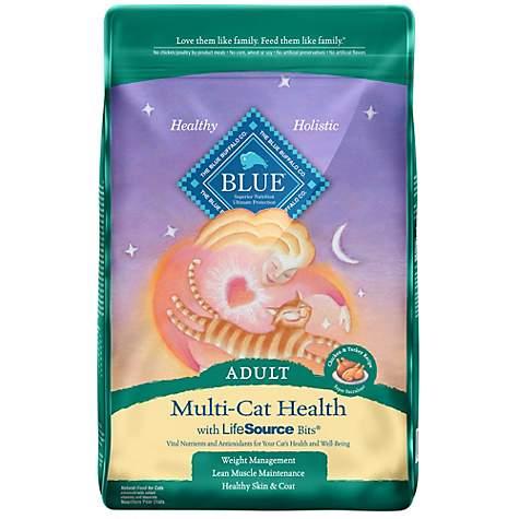 Blue Buffalo Blue Multi-Cat Health Adult Chicken & Turkey Recipe Dry Cat  Food