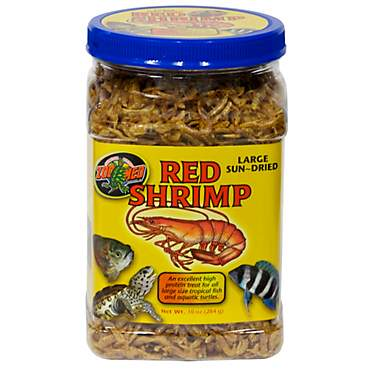 Zoo Med Large Sun-Dried Red Shrimp Aquatic Turtle Food