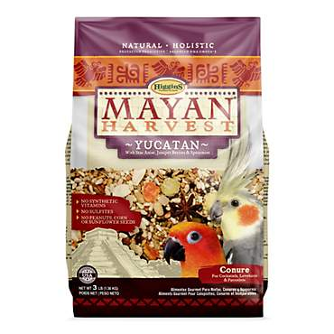 Higgins Mayan Harvest Yucatan Blend Bird Food for Small Hookbills