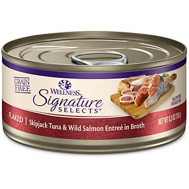 Wellness CORE Signature Selects Natural Grain Free Flaked Skipjack Tuna & Salmon Wet Cat Food