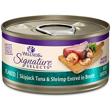 Wellness CORE Signature Selects Natural Grain Free Flaked Skipjack Tuna & Shrimp Wet Cat Food