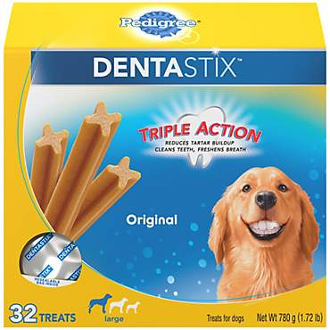 Pedigree Dentastix Original Large Treats For Dogs, 32 Treats