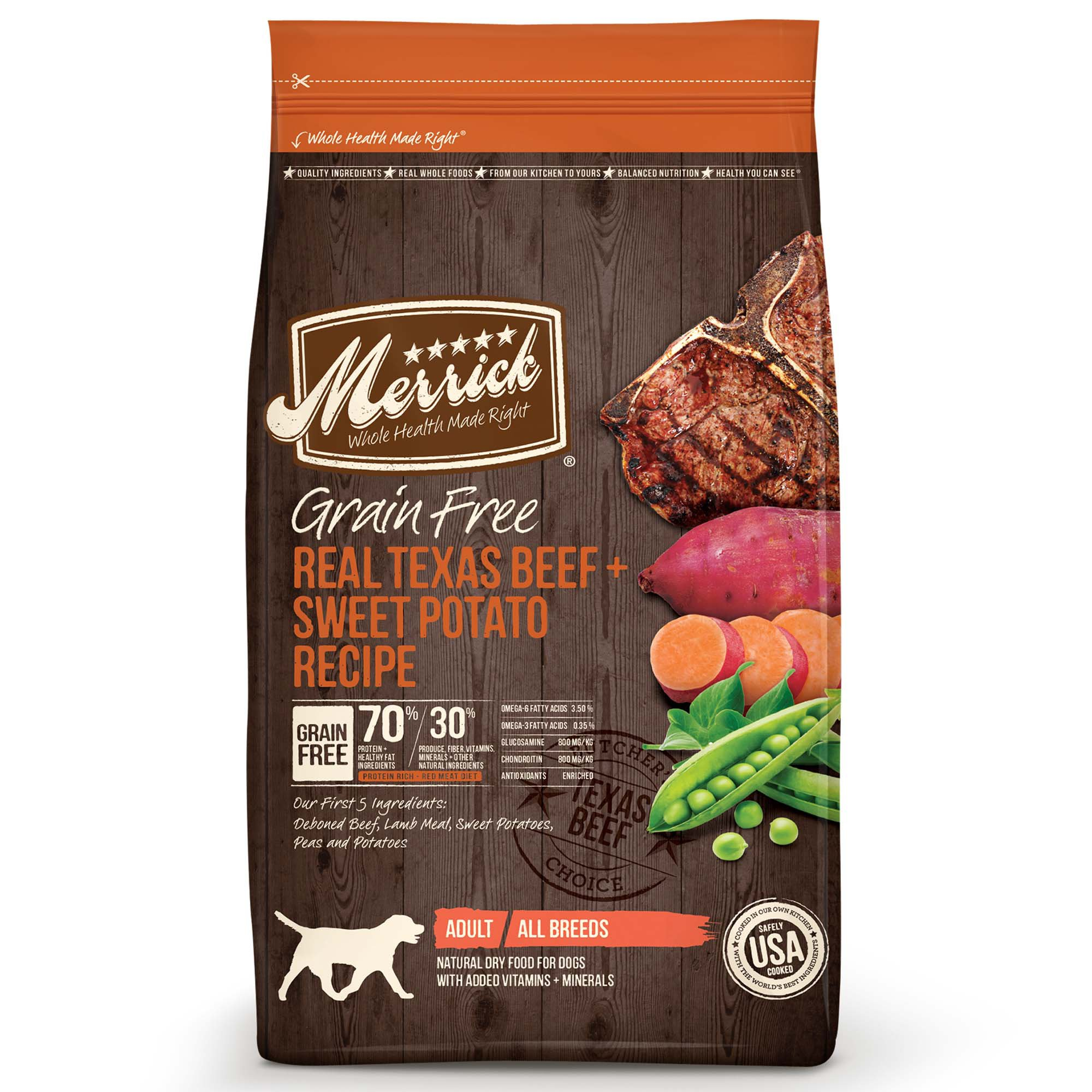Merrick Grain Free Real Texas Beef + Sweet Potato Dry Dog Food | Petco | Tuggl