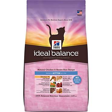 Hill's Ideal Balance Kitten Natural Chicken & Brown Rice Recipe Dry Cat Food