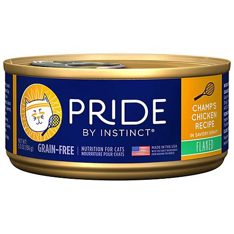 Instinct Pride Grain-Free Flaked Champ's Chicken Canned Cat Food by Nature's Variety
