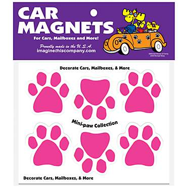 Imagine This Magnet Mini Paws in Pink for Dogs