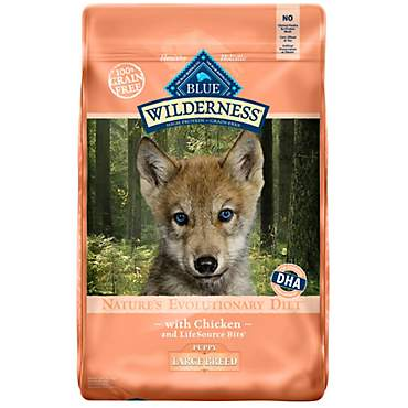 Blue Buffalo Blue Wilderness Large Breed Puppy Chicken Recipe Dry Dog Food