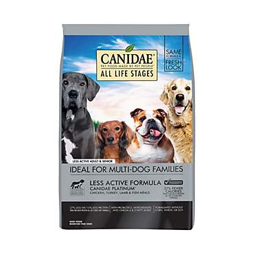 CANIDAE All Life Stages Platinum Less Active Chicken, Turkey, Lamb & Fish Meals Dry Dog Food