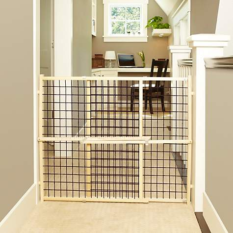 My Pet Wood Frame Wire Mesh Pet Gate | Petco