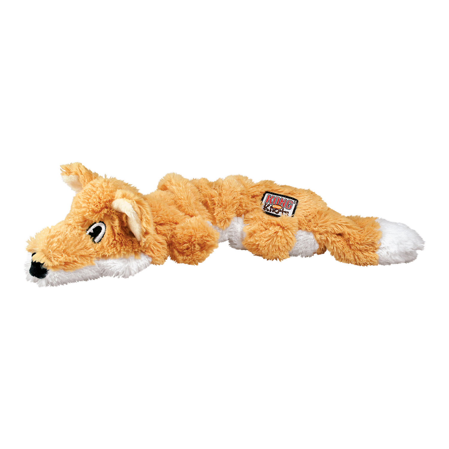 Kong Scrunch Knots Fox Dog Toy Medium Brown