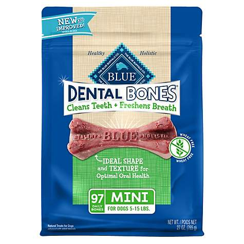 Blue Buffalo Blue Dental Bones Mini Size Dog Treats