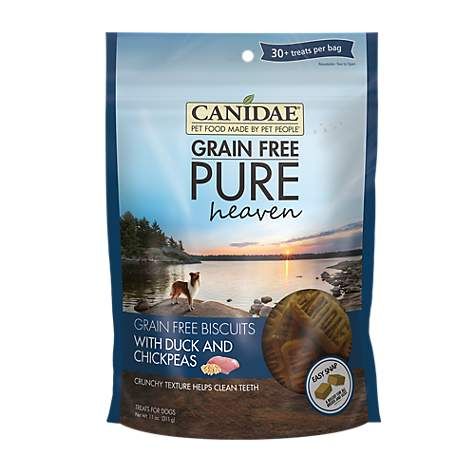 CANIDAE Grain Free PURE Heaven with Duck & Chickpeas Dog Treats