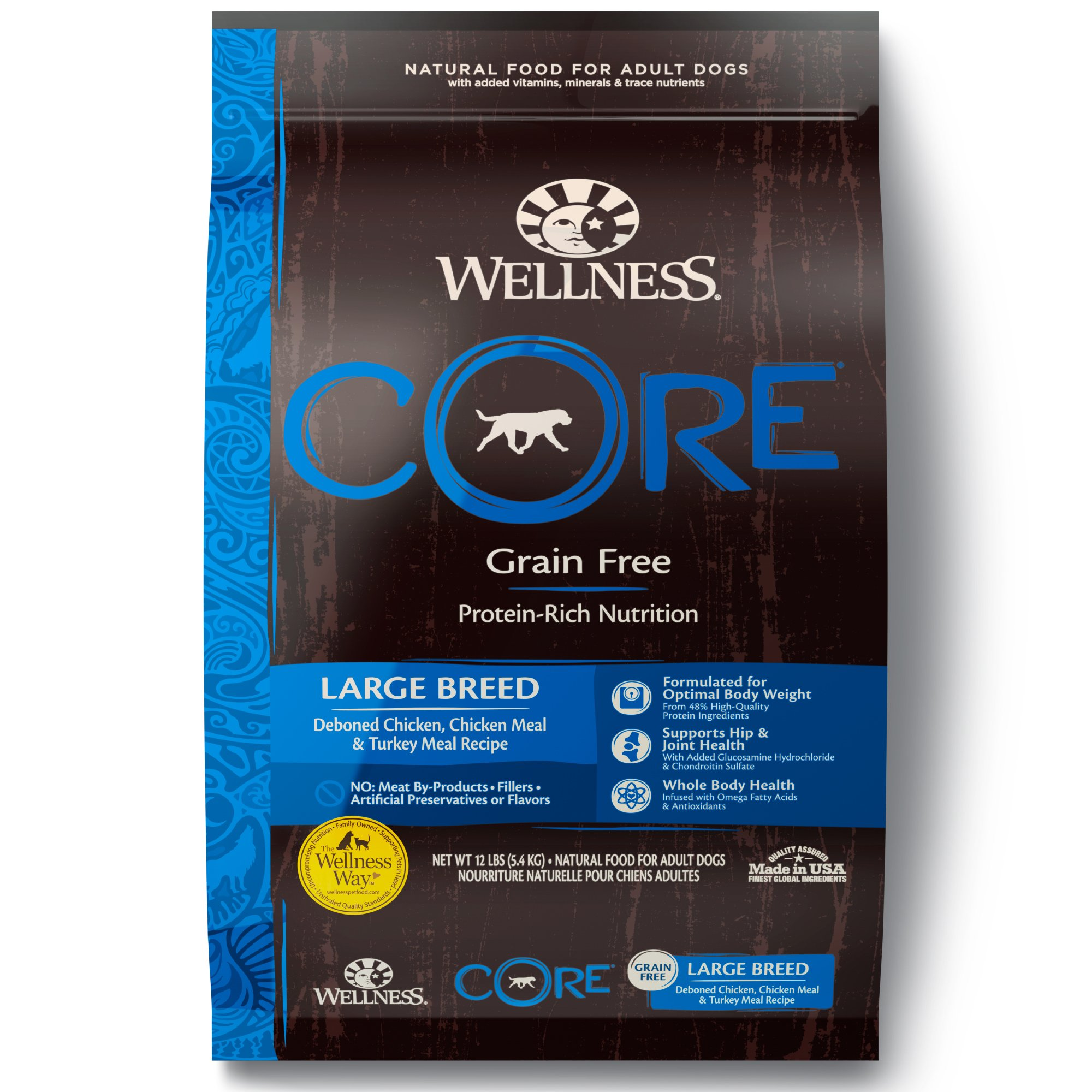 Wellness Core Natural Grain Free Large Breed Health Recipe