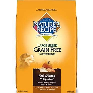 Nature's Recipe Grain Free Chicken Sweet Potato & Pumpkin Large Breed Adult Dog Food