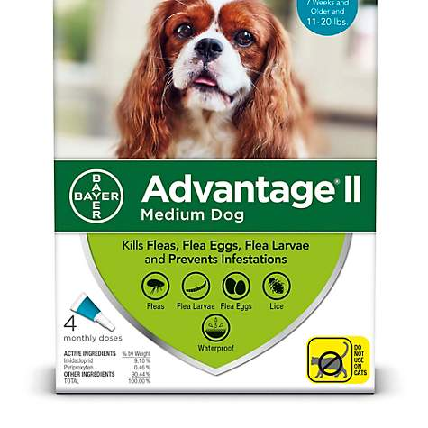 Advantage Ii Once A Month Topical Flea Treatment For Dogs Puppies